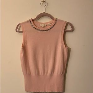 Ted Baker Pink Knit Sleeveless Top